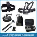 Gopro Accessories Set Helmet Harness Chest Belt Head Mount Strap Monopod For Hero 5 4 SJCAM SJ4000 SJ5000 EKEN H9 Xiaomi Yi Cam