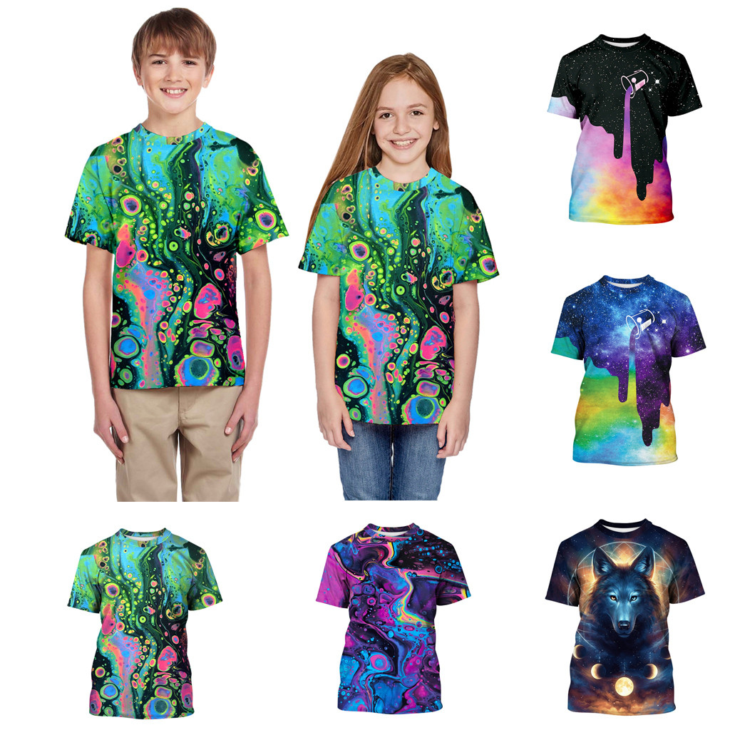 Cartoon T-Shirt Tops Short-Sleeves 3d-Print Toddler Baby-Boys-Girls Kids Cotton Children