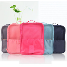 Hot Sale 2 Layer Travel Storage Bag Nylon Mesh 3 Colors Portable Organizer Bags Shoe Sorting Pouch For Shoes