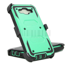 Rugged Hybrid Impact Heavy Duty Armor Hard Case Cover+Holster With Belt Clip For Samsung Galaxy J7 J700H J700F J700