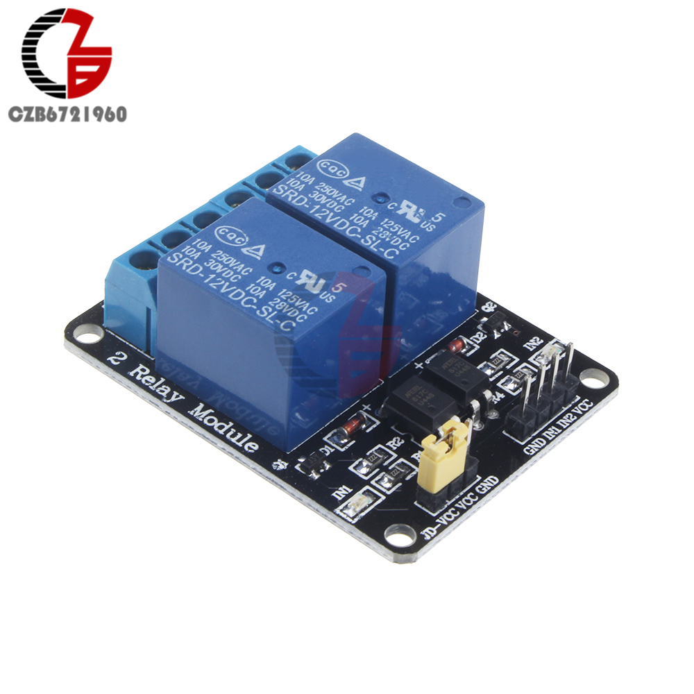 12V 2 Channel Relay Module Shiled Relay Expansion Board Low Level Trigger For Arduino ARM PIC AVR DSP Electronic 5v 2 channel ir relay shield expansion board module for arduino with infrared remote controller