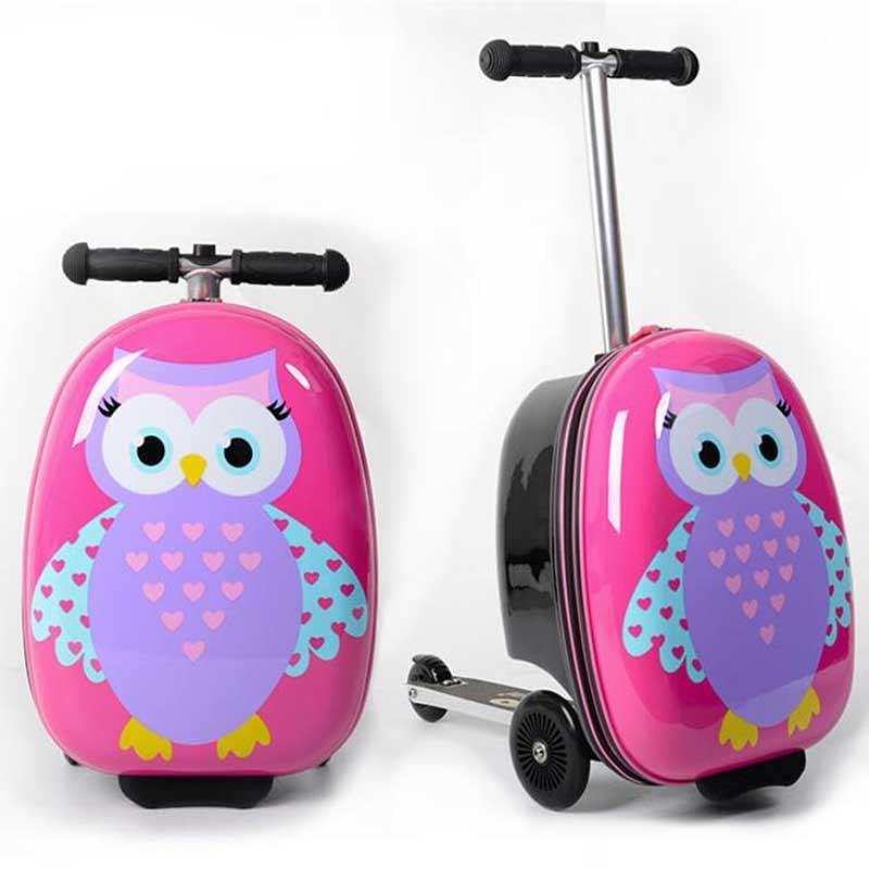 """REIZEN TALE 18 """"inch kids scooter bagage leuke cabine trolley kofferbak lui koffer voor baby-in Rij bagage van Bagage & Tassen op  Groep 1"""