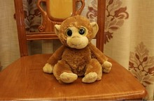 lovely light brown long arm monkey doll creative big eyes monkey doll gift about 30cm