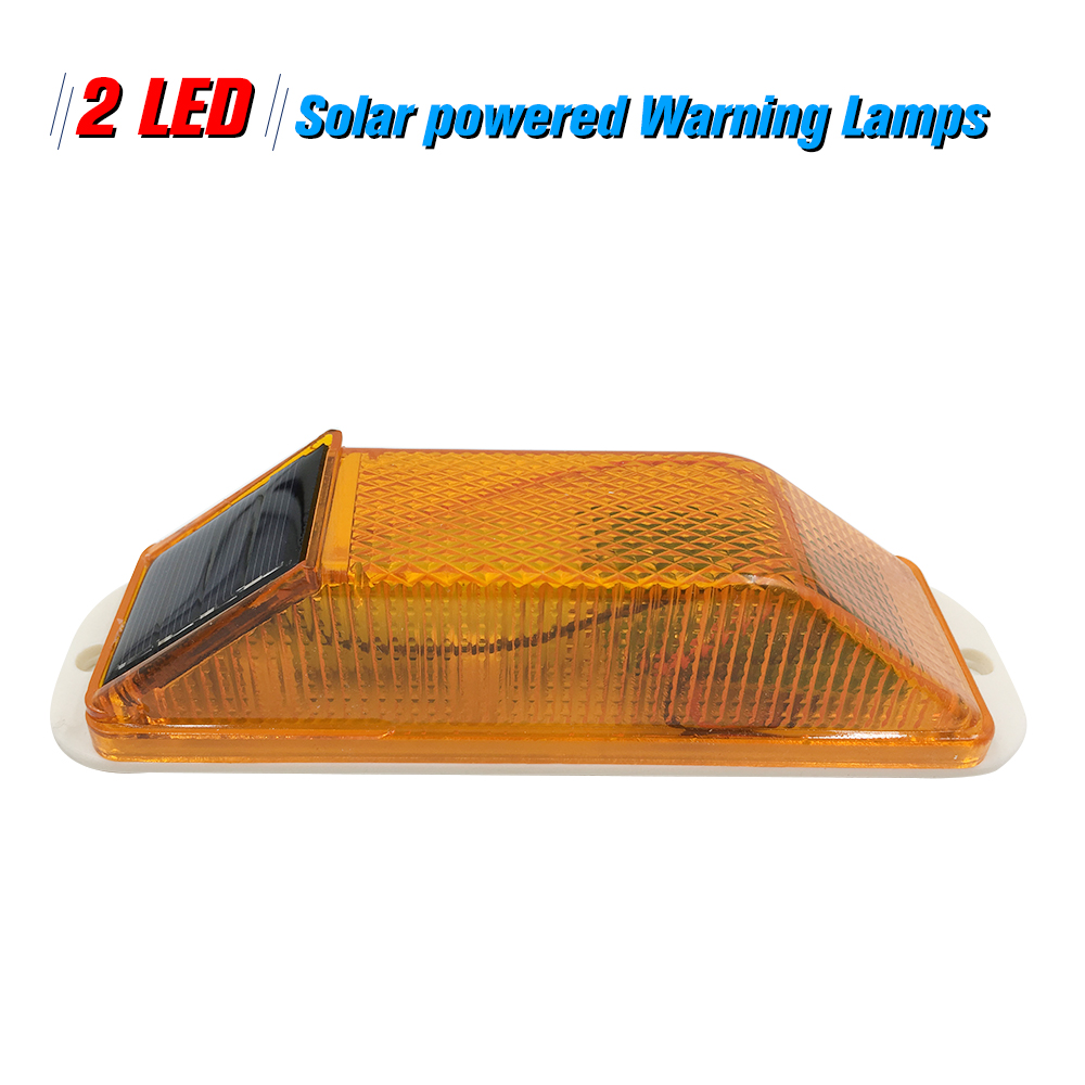 Sensitive Strobe Flash Warning LED Caution Lamp Solar Warning Light Mounted Outdoor On Balusters For Safety Night Driving