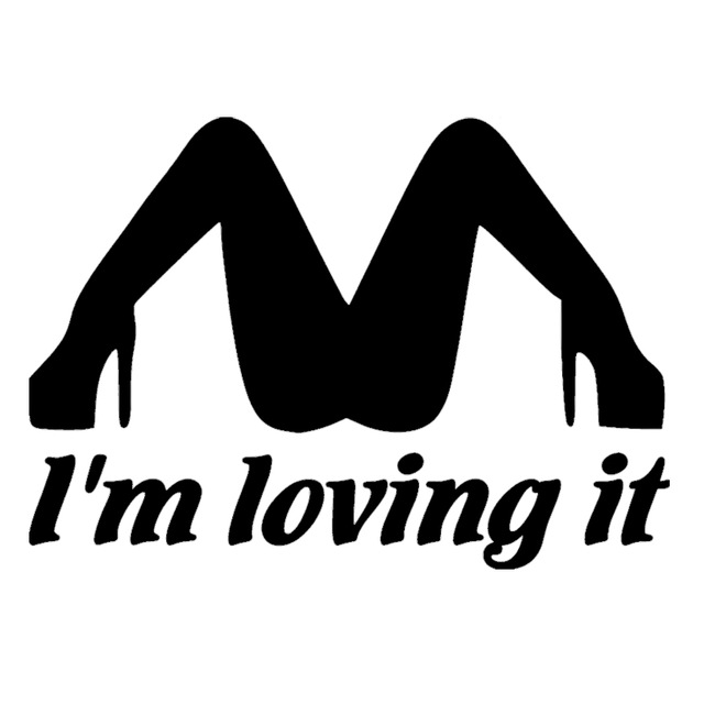 Funny im loving it humor words vinyl decal sticker fits car