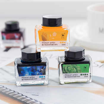 Ostrich color ink 12 color set of gold powder color ink for dip pen with non-carbon non-blocking ink water