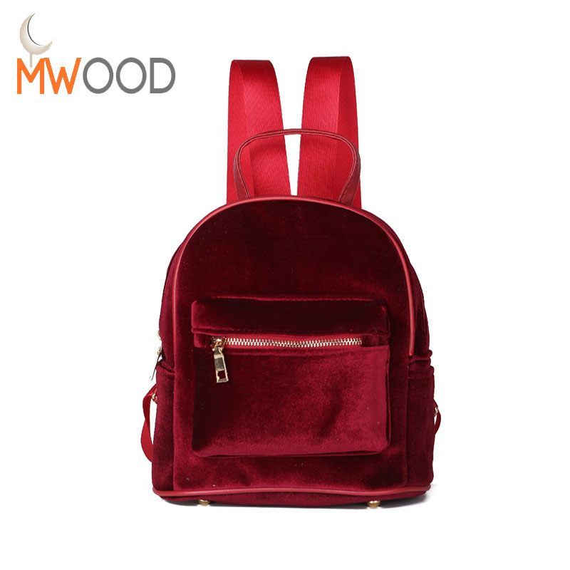 Hot Fashion Women Cute Flannel Small Backpacks Velvet Retro Kids School Backpack Solid Girls Casual Travel Bag Sack Bag Mochila hot fashion design personality little bear women backpacks cute character shapes cartoon girls schoolbag casual shoulder bag