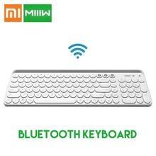 لوحة المفاتيح الأصلية من شاومي Miiiw المزودة بتقنية البلوتوث 104 مفاتيح 2.4 جيجاهرتز متعددة الأنظمة متوافقة مع لوحة المفاتيح Xiomi اللاسلكية المحمولة من Xiami