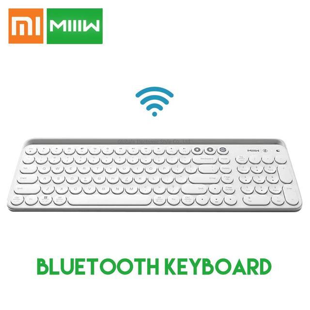 Oryginalny Xiaomi Miiiw podwójny tryb Bluetooth klawiatura MWBK01 104 klawisze 2.4 GHz wielu zgodny z systemem bezprzewodowy przenośny klawiatury
