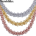 Trendsmax 6mm 20/24inch Womens Necklace Swirl Link Rose Gold Filled Necklace Mens Chain Fashion Jewelry Wholesale Price GN223
