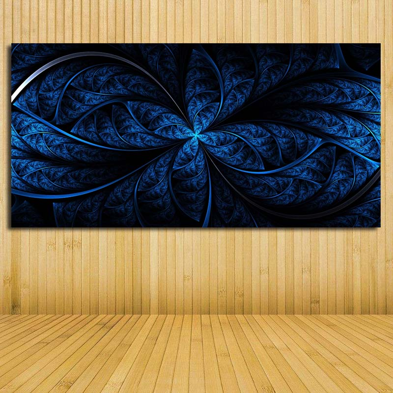 HD Print Canvas Art Dark Blue Picture Abstract Painting Modern Wall ...