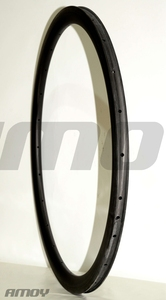 Image 4 - 38mm asymmetric Clincher U shape road disc carbon rim 700c cyclocross wheel