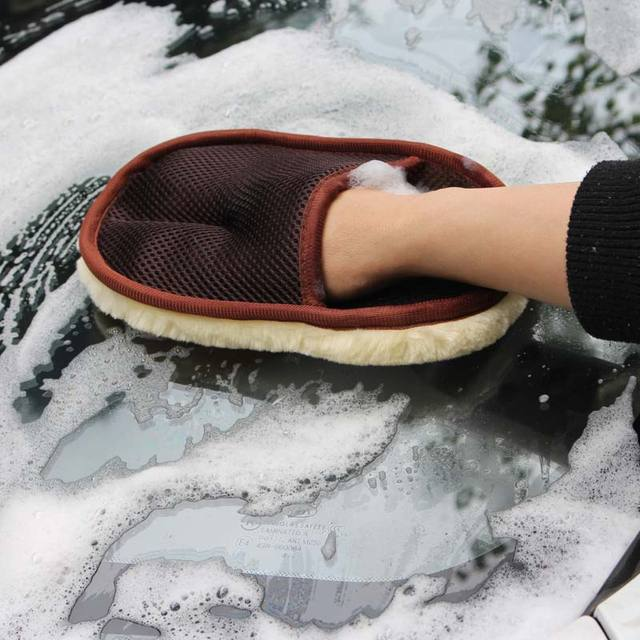 Car Styling Wool Soft Car Washing Gloves 15*24cm Automotive Cleaning Brush Motorcycle Washer Care Products 6