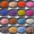 17 Color 6 x 2 mm 500 unids espaciador del vidrio cristalino, SILVER LINED checa Seed perlas para la joyería DIY hechos a mano BL6MMG01X