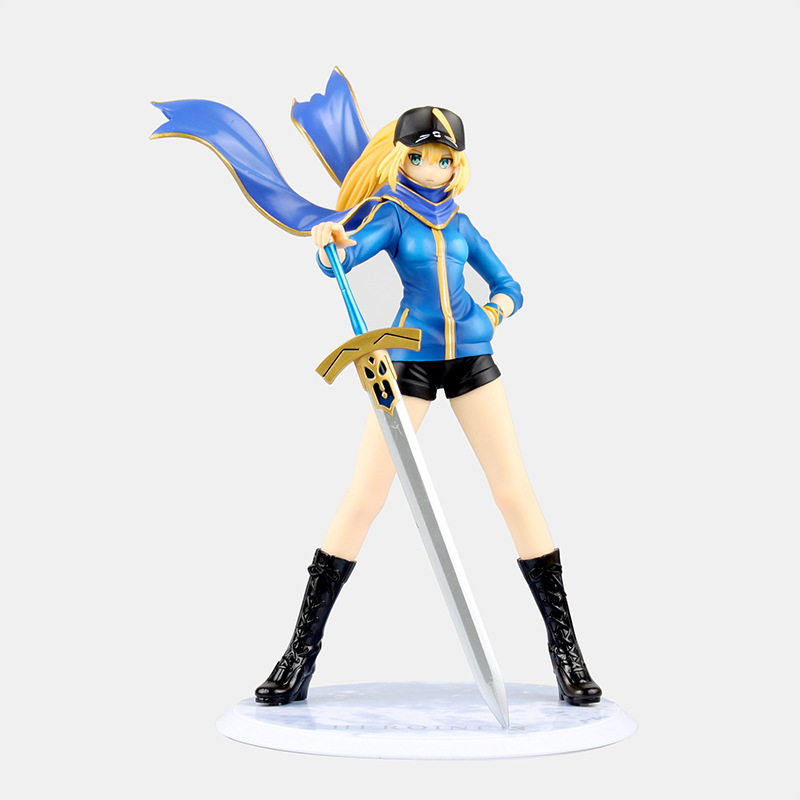 WVW 23cm Hot Sale Fate Grand Order Fate stay night Nero Saber Model PVC Toy Action Figure Decoration For Collection Gift anime plum fate grand order lancer pvc action figure collectible model doll toy 31cm new hot