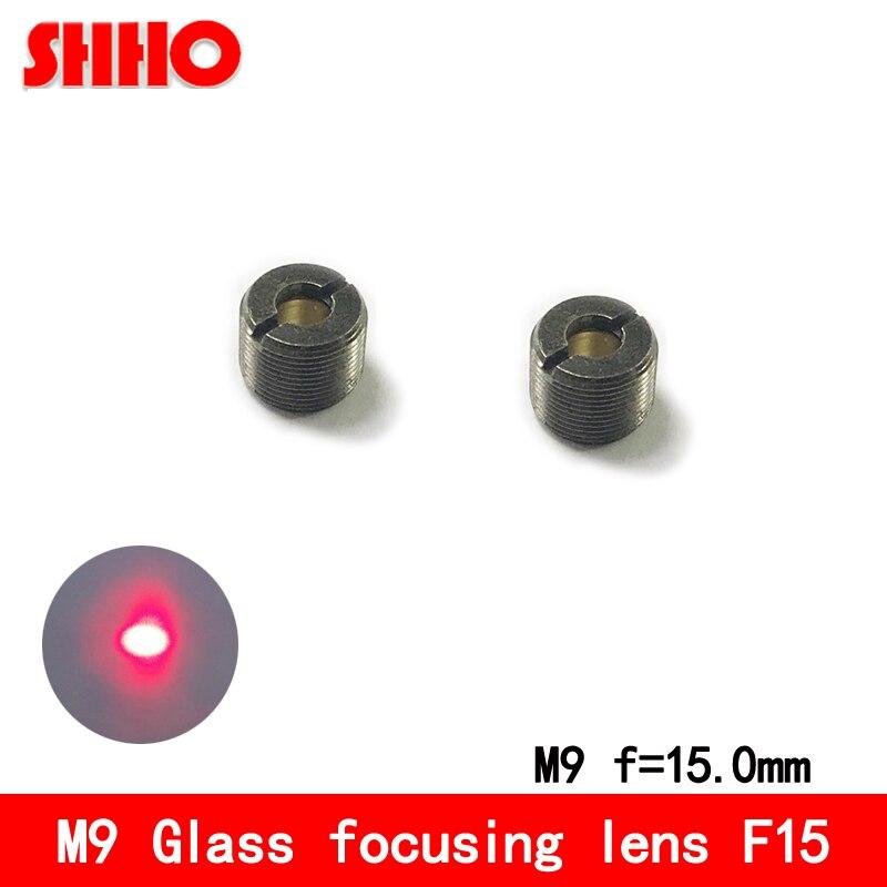High quality M9-0.5mm composite lens glass focusing lens collimation lenses focal length 15mm laser focusing accessories
