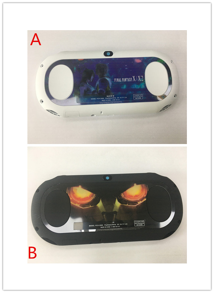 Запасная задняя крышка с логотипом для PS Vita Slim для psvita 2000 Консоль  ack Shell Чехол