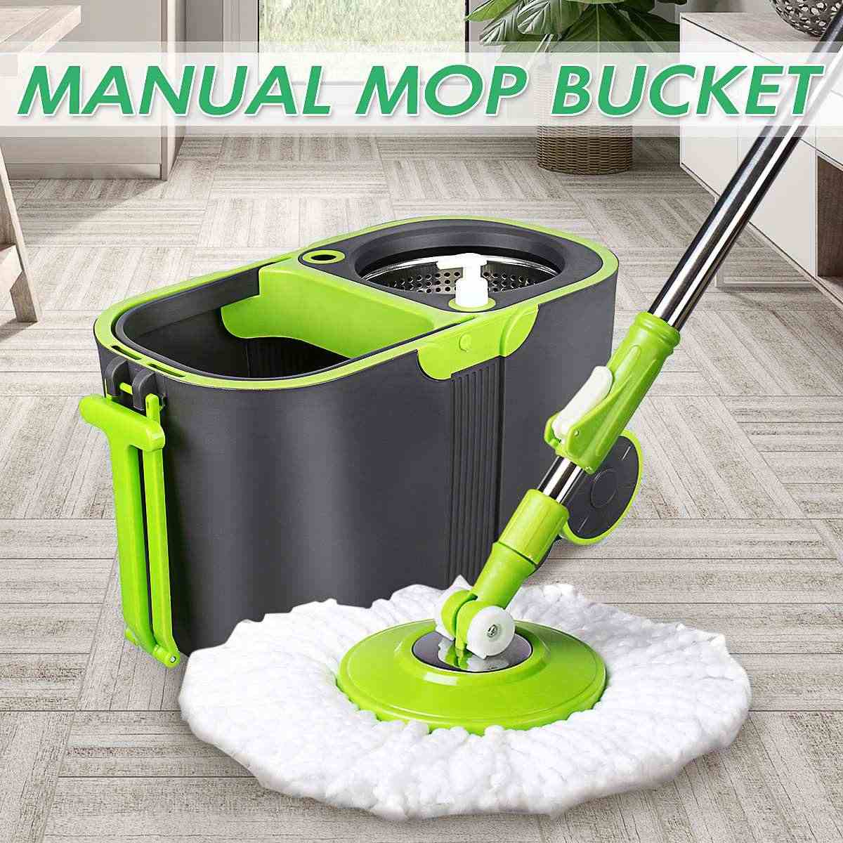 360 Degree Spin Mop Rotating and Bucket Set Wheels and 4 Microfiber Mop Heads Smart Cleaning Floors Windows Home Kitchen