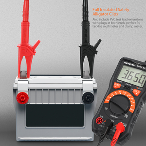 Image 5 - Meterk mk29 kits de chumbo teste eletrônico para multímetro digital tester com clipes jacaré pontas sondas substituíveis kit acessórios