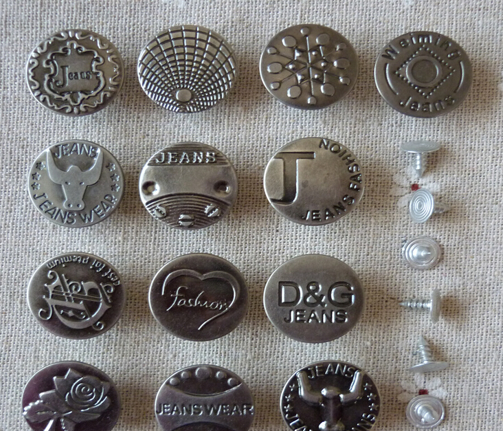 U05deu05d5u05e6u05e8 - POVUOP button metal button jean buttons for Jeans mixed 10 PCS 17mm/20mm button high ...