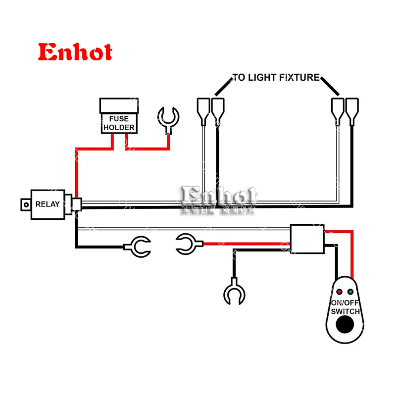Wire relay harness 4x4 off road led hid fog spot work driving loom wire relay harness 4x4 off road led hid fog spot work driving loom 12v 40a switch relay wiring harness kit control 2 headlights in car light assembly from publicscrutiny Choice Image
