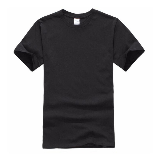7cd4e9e77a91 2017 New Solid color T Shirt Mens Black And White 100% cotton T-shirts