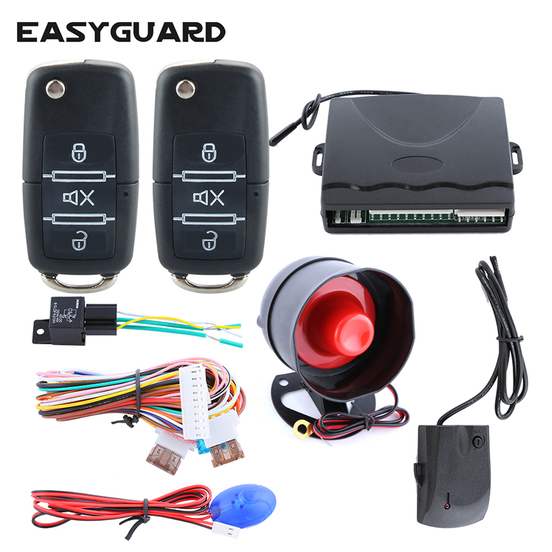 Purposeful Easyguard Quality Car Security Alarm System With Keyless Entry Remote Trunk Release Central Door Lock Panic Mode Shock Alarm Factories And Mines Alarm Systems & Security