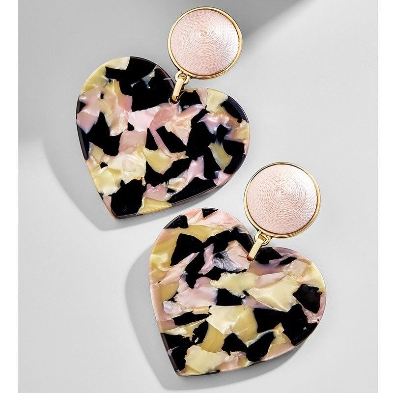 Женские леопардовые фигурные серьги ZA, висячие серьги черепаховой расцветки из акрилацетата, украшения для вечеринок - Окраска металла: 10421