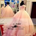 Rosa vestidos quinceanera 2017 bola vestidos vestidos quinceanera 15 anos de 15 anos Quinceanera Vestidos doce 16 vestidos de Rendas