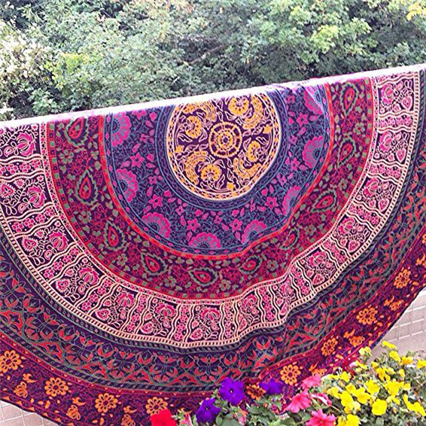 11.11 High Quality Round Beach Pool Home Shower Towel Blanket Table Cloth Yoga Mat