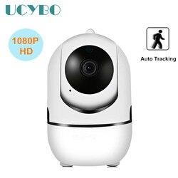 Wifi kamera ip 1080P automatyczne śledzenie CCTV bezprzewodowe bezpieczeństwa mini kamera monitoringu ip niania elektroniczna baby monitor alarmowym PTZ podczerwieni IR videocam