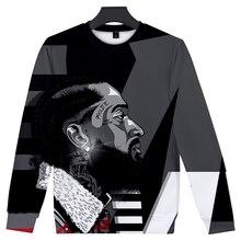 New Round neck 3D Nipsey Hussle Sweatshirt Hot Rap harajuku Warm Men Hoodie Women Hip Hop Leisure Black Wild 4XL