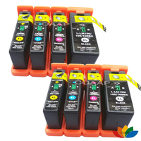 8 Compatible lexmark 100 XL ink cartridges for S305 S405 S505 S605 Pro205 Pro703 Pro705 Pro706 Pro901 Pro902 Pro903 Pro905