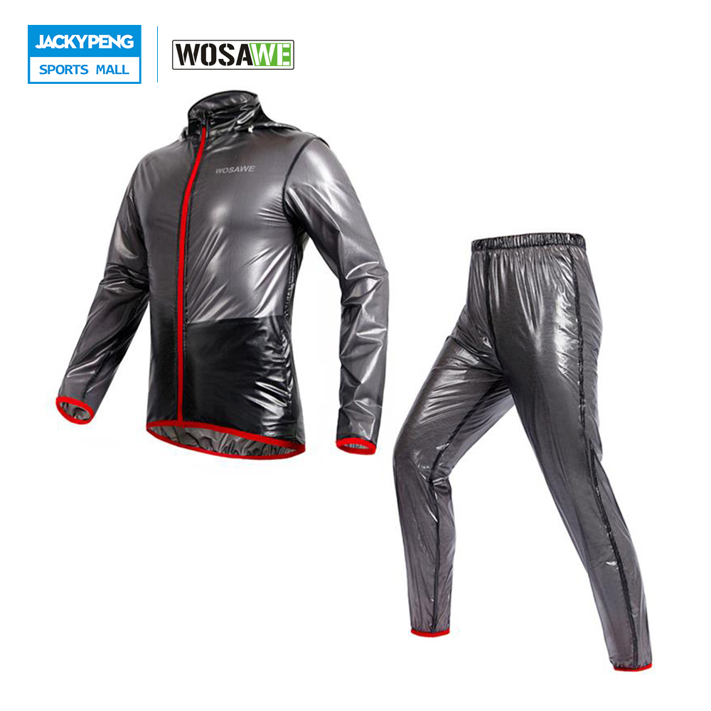 WOSAWE Raincoat Cycling Jacket Waterproof Windproof Waterproof Outdoor Sports Clothing Bike Rain Jacket Jersey Cycling Clothing стоимость