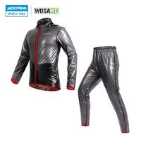 WOSAWE Raincoat Cycling Jacket Waterproof Windproof Waterproof Outdoor Sports Clothing Bike Rain Jacket Jersey Cycling Clothing