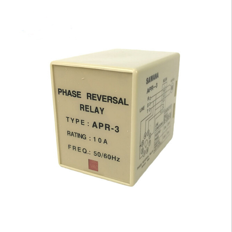 APR-3 Failure Phase Sequence Protect Relay 8 Pin Phase Reversal Relay with 220V AC 10A vj5 lcd display phase failure sequence unbalance protective relay 3 phase and voltage relay