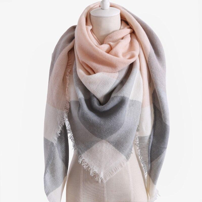 2018 New Design Luxury Brand Women Scarf Acrylic100% Plaid Autumn and Winter Lady Triangle Cashmere Shawl