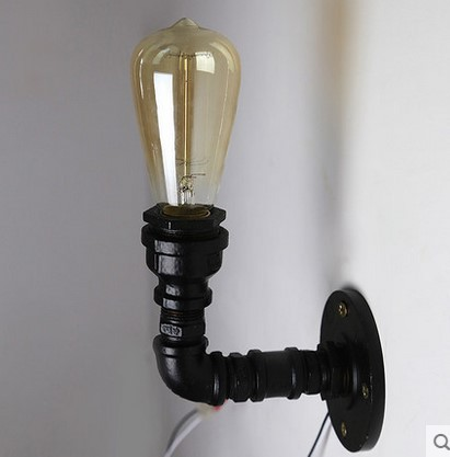 Industrial Pipe Lamp Vintage Wall Light Fixtures In Retro Loft Style Edison  Wall Sconce,Arandela Lamparas De Pared In LED Indoor Wall Lamps From Lights  ...