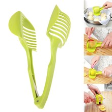 Kitchen Plastic Tomato Slicer Handy Fruit Holder Lemon Cutter Slicer Tools Creative Cooking Utensils