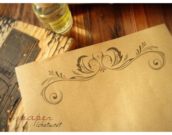 Retro kraft writing paper kraft letter Paper 80gsm European floral – Design Paper for Writing
