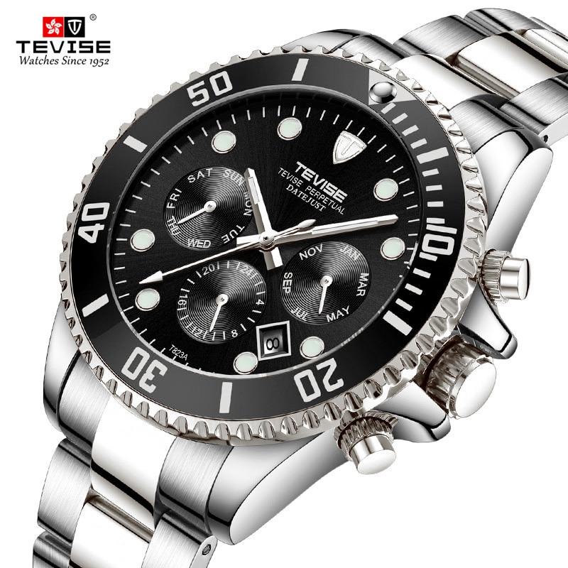 Tevise 2018 Nouveaux Hommes Montres Mécaniques Automatiques Date wristwarch Mode Horloge Mâle Rôle Sport Montre Relogio masculino relojes