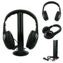 Лучшая цена Наушники Горячая 5IN1 Беспроводной наушники шлем аудио беспроводной Ecouteur привет-fi Радио FM TV MP3 MP4