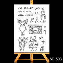 ZhuoAng Cute bear and elk Transparent Clear Stamp DIY Scrapbooking Album Card Making Decoration