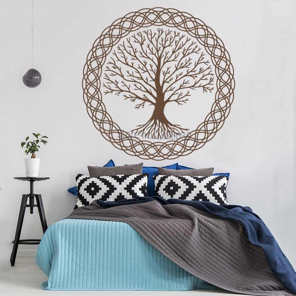 Zen Meditation Vinyl Wall Decal Tree of Life Art Family Decor Nature Murals  Wall Stickers Unique Large Tree Design Decals LC1022