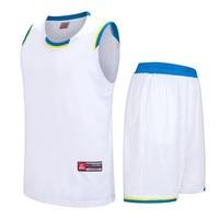 2017 Men Basketball Jersey Sets Uniforms Kits Adult Sports Shirts Clothing Breathable Basketball Jerseys Shorts DIY