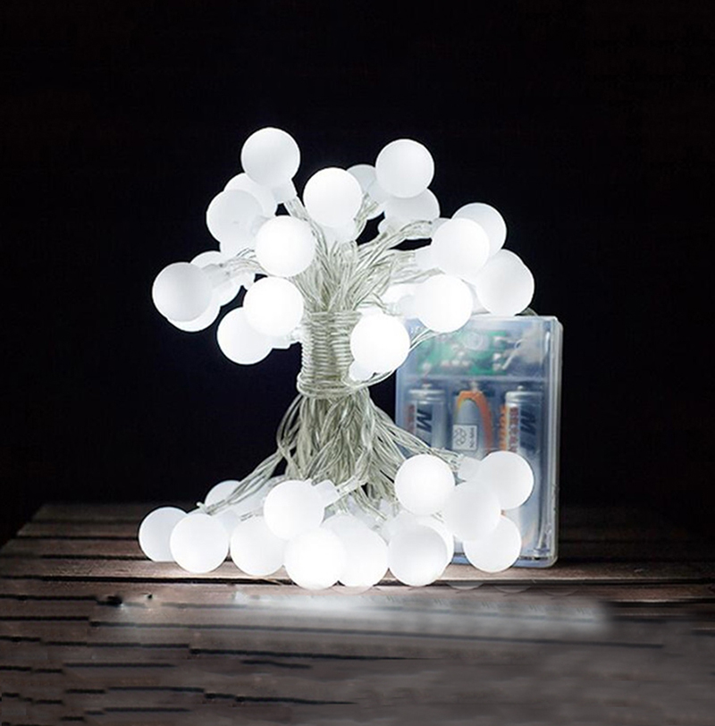 Hot Sale 5M 50 LED Globe String Lights Battery Operated