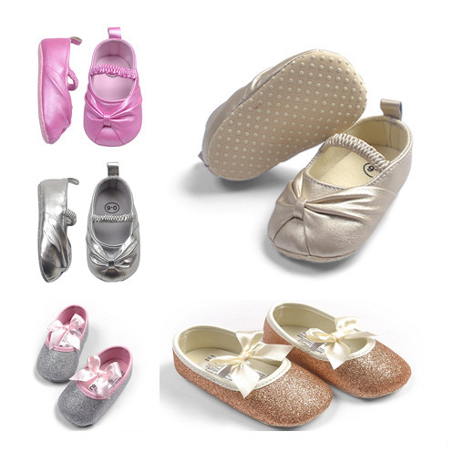 Baby Girl Princess Sparkly Shoes Infant Cute Golden Silver Footwear Toddlers Fashion Soft Sole Newborn Shoe - Gyges store
