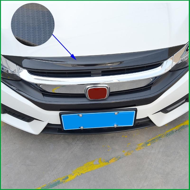 Подходит для Honda Civic Sedan 2016 2017 спереди двигателя капот Гриль для губ молдинг крышки отделка стайлинга автомобилей ободок Гарнир протектор
