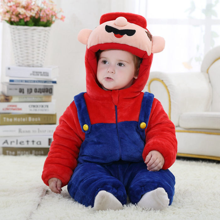 Cartoon Christmas Costume Newborn Baby Romper Winter Cotton Baby Jumpsuit Infant & Toddlers Overalls 2017 Baby Clothes RL11-22 puseky 2017 infant romper baby boys girls jumpsuit newborn bebe clothing hooded toddler baby clothes cute panda romper costumes