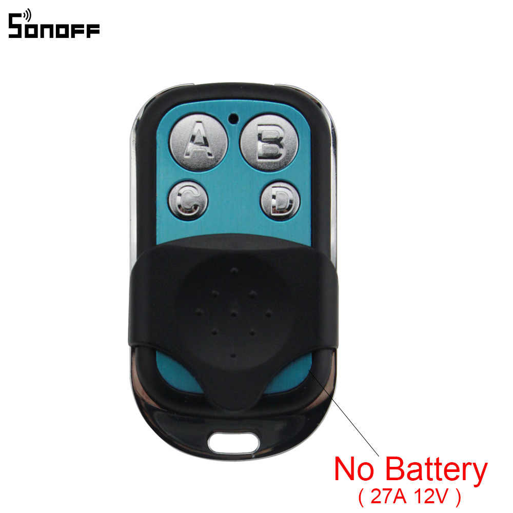 Sonoff, 433 MHz, 4 canales de RF controlador remoto ABCD 4 botones para Sonoff RF/Slampher inteligente/T1/4CH pro R2 eléctrica llave de Control remoto Fob Control